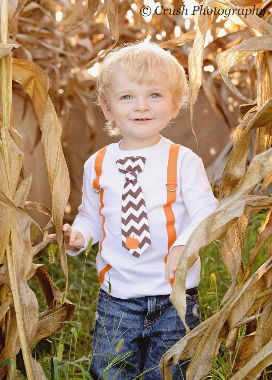 Baby Boy Fall Clothes. Halloween Pumpkin Patch Outfit. Newborn