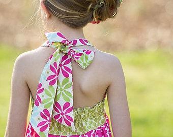 Girls Sewing Pattern, Halter Dress Pattern, Matilda Jane Pattern, Ruffle Dress Pattern, Maxi Dress Pattern, Halter Dress Pattern - 6m-10