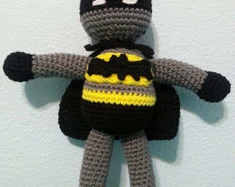 Crochet Superhero Batman Amigurumi Doll, Made to order