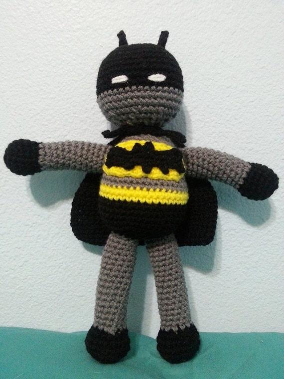 Items similar to Crochet Superhero Batman Amigurumi Doll ...