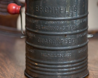 Bromwell's Metal Measuring Sifter with Red Handle