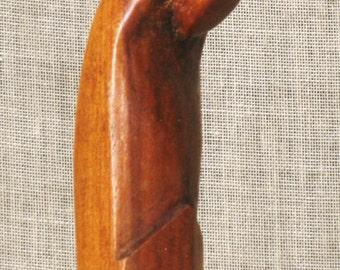 Vintage Folk Art Madonna, Religious Carving, Female Portrait, Mid-Century, Hand Carved Virgin, Religion, Santo, Icon, Altar, Mother Mary