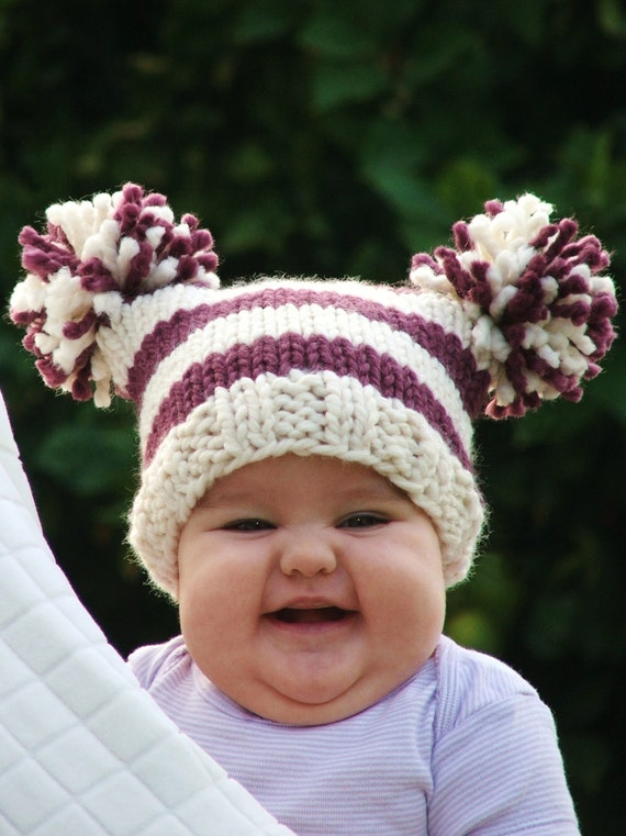 Knitting Pattern For Baby Jester Hat : Baby Knitting Pattern Knit Hat Knitting pattern PDF by CreatiKnit