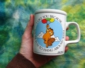 GARFIELD AND POOKY Coffee Mug, I Like You Because You're Fun To Hang Around With, Enesco Cup, Jim Davis Fat Cat 1978