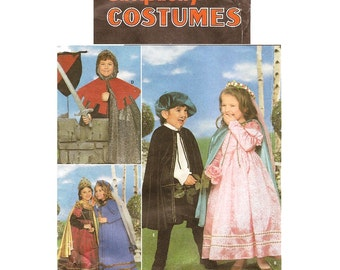 Kids Renaissance Costume Pattern - Simplicity 8318 - Sizes 3-8 Knight Princess OOP