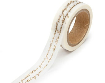 Washi Paper Tape Gold Script