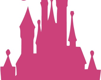 Disney CASTLE 22x42 Tinkerbell Vinyl Decal Wall Lettering Words Princess