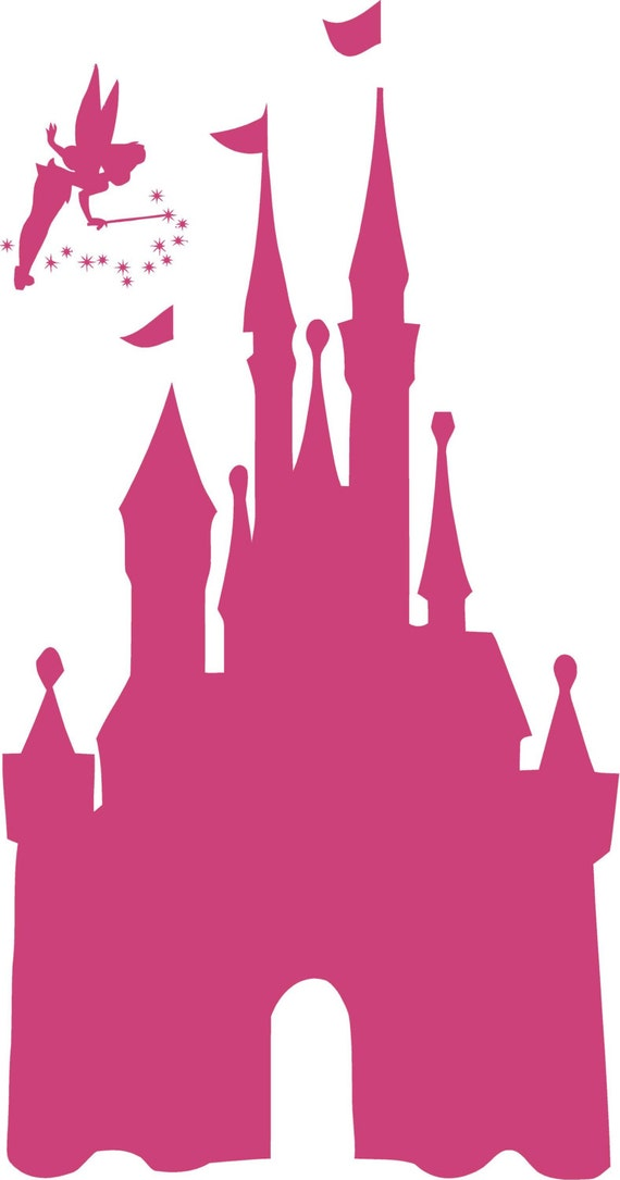 Disney CASTLE 22x42 Tinkerbell Vinyl Decal Wall Lettering Words ...