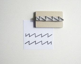 Geometric Zig Zag Border Hand-Carved Stamp