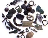 Set of Antique ancient Viking jewerly ring amulet fibula