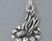 Sterling Silver 925 Charm Pendant CAMPFIRE Bonfire Camping Scouts 3573