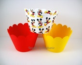 Mickey Mouse Cupcake Wrappers - Mickey Mouse Design - Set of 12+