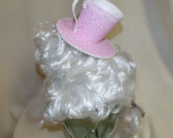 Teacup Fascinator- Pale Pink and White Teacup Headband- Mini Hat
