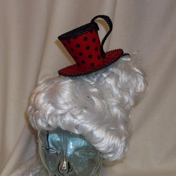 Teacup Fascinator- Red and Black