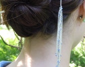 Silver Hairstick with Lavender Beads and Feather Accent [RESERVED]