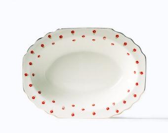 Serving Bowl | Vintage | Ceramic | Lido Blushing Rose