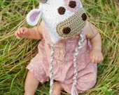 Crochet Pattern, Cow Hat - Instant Download