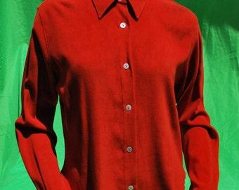 Vintage 80's jc de castelbajac tricot blouse shirt orange jacket s44 Large Italian by thekaliman