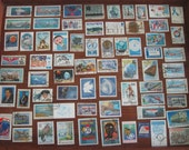 67 BLUE Postage Stamps, 1970s -1990s, 67 different designs - STAMP SPECIAL: Any 3 sets for 12 Dollars