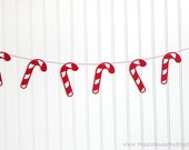 Candy Cane Garland : Christmas Bunting // Christmas Party // Party Decoration // Candy Cane Bunting // Holiday Party Decor // Photo Prop