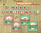 Christmas SUGAR COOKIE Collection - DIY Printable Holiday Cookie Exchange Decorations // Baking Party // Mrs. Claus Theme - Instant Download
