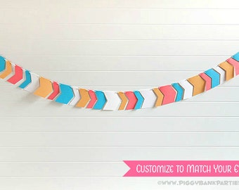 Tribal Arrow Garland : Chevron Garland | Birthday | Wedding | Party Decoration | Bridal Shower | Baby Shower - CUSTOMIZE the COLORS