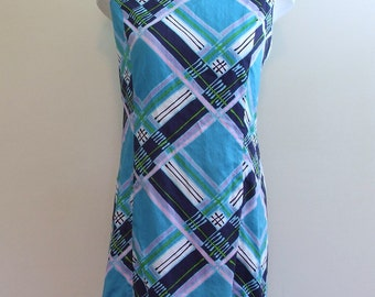 1960s Fitted Colorful Stripes Dress