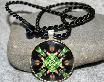 Mandala Pendant Necklace Bear Boho Chic Sacred Geometry New Age Hippie Kaleidoscope Unique Gift For Him Or Her Nature Lover Magnanimous