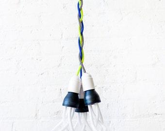 Chandelier Hanging Light - DIY Custom Request Lighting Design Guide - Color Cord Textile Canopy Pendant Lamp - Unique Home Decor - ESW2