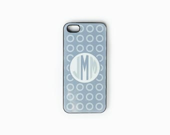 iPhone 4, 4S or 5, 5c, 5s , iPod Touch 4, Contemporary Dots  Monogram Cell Phone Case, Monogram iPhone Case