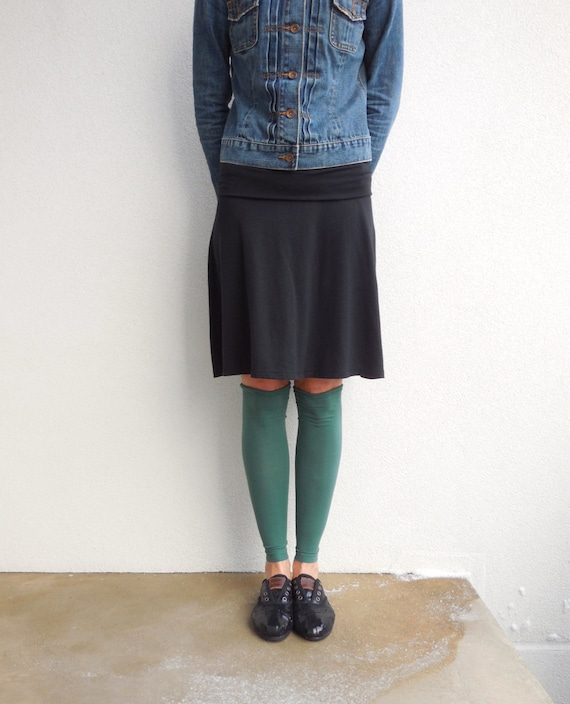 T Shirt Leg Warmers / Teal Blue / Teens / Girls / Eco Friendly / Recycled / Cotton / Stretch / Fall / Soft / For Her / by ohzie