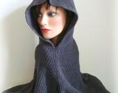 SALE Women Hooded Poncho - Handmade Knit - Original Look - Women Knitted Poncho - Winter Fashion