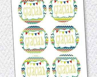 Fiesta PRINTABLE Favor Tags by Love The Day