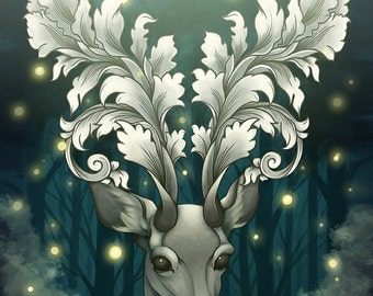 Antlers of Filigree Art Print