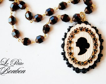 Silhouette image necklace