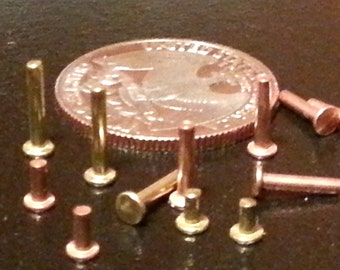 Solid Brass Rivets - Easy to use - Cold connections jewelry and crafts
