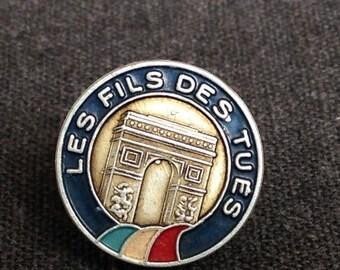 Antique collectible French souvenir patriotic pin.