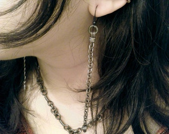 Copper Garnet Ear Cuff