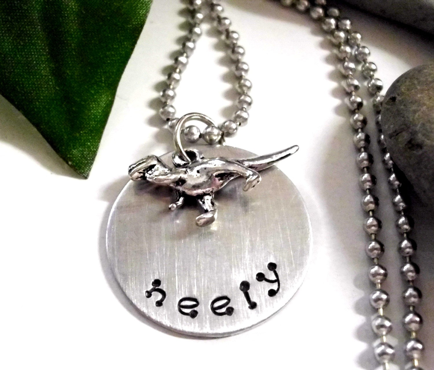 Boys Necklace Dinosaur Jewelry Personalized Dinosaur