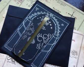 Gates of Moria Greeting Card - Lord of the Rings style
