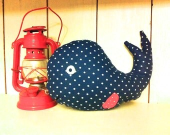 Whale pillow, navy whale, whale nursery, whale decor, nautical nursery, nautical pillow, beach decor, beach pillow