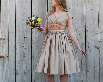 1950s Mr. Mort Party Dress // New Look // Extra Small