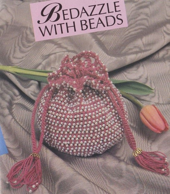 Crochet Beaded Bag Pattern : Items similar to Beaded Bags Crochet Patterns - Drawstring Bag and ...