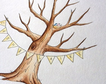 Wedding tree guest book- banner bunting add-on