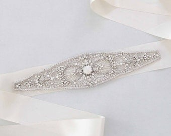 Bridal Sash, Wedding Belt, Swarovski Sash, Crystal Sash, Jewelled Sash, Crystal Belt,Swarovski Sash, Gown Sash - Irene