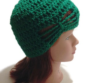 Green Bow Hat, Hat with Bow, Girls Green Hat, Bow Hat, Green Summer Hat, Green Beanie, Girls Hats, Butterfly Hat, Bow Inlay Hat