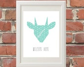 Stag Welcome Home 8 x 10 Poster Art Print