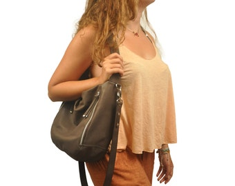 Handmade leather shoulder bag, messenger bag named as Felicia MADE TO ORDER