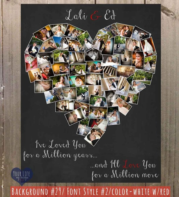 Personalized anniversary gift photo collage