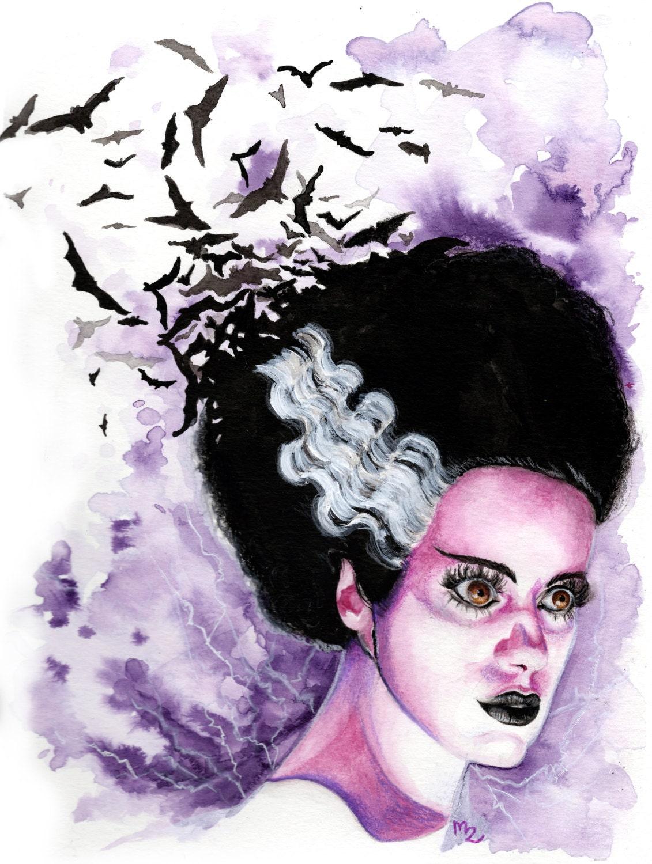 Bride of Frankenstein Art Print We Belong Dead